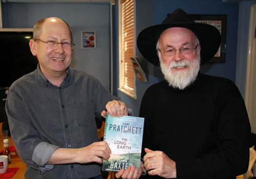 Stephen Baxter and Terry Pratchett (image via Paul Kidby)