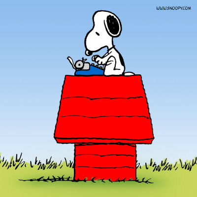 Author, aviator, cool dude ... is there isn't Snoopy can't do and still look cool doing it? I say no (image via blogs.popart.com)