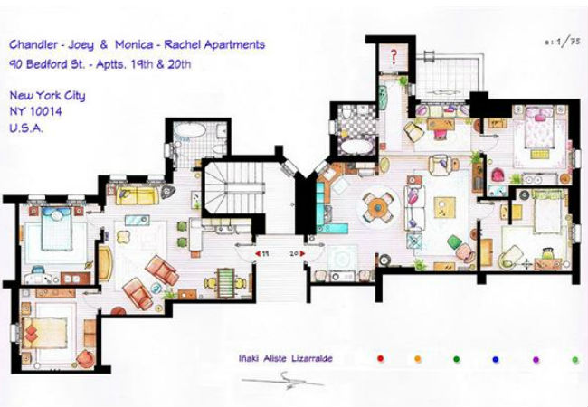Home Sweet TV Home: The Floor Plans Of Famous TV