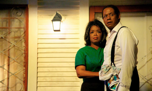 Though troubled at times, and often playing second fiddle to his career, the marriage between Gloria (Oprah Winfey) and Cecil (Forest Whitaker) is the mainstay of his life, and its eventual passing through death deeply saddening (image via o.canada.com)