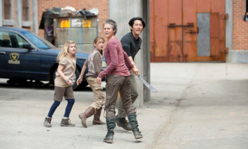 Not so much mother hen as mother warrior, Carol is getting more hard-assed by the episode (image via ign.com)