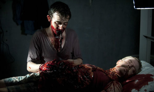 Walker Patrick settles in for a quiet night in his cell (image via digitalspy.com  (c) AMC)