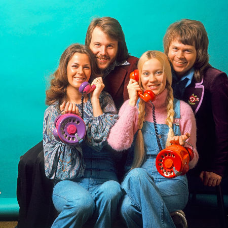 One of the first promotional for ABBA as an entity referencing, of course, the title track Ring Ring (image via myfizzypop.blogspot.com)