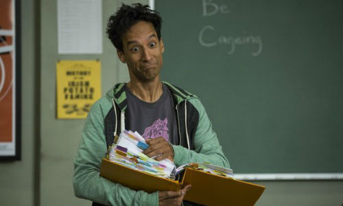 """Abed looking rather frazzled """"... in the morning!"""" (image via hitfix.com (c) NBC)"""