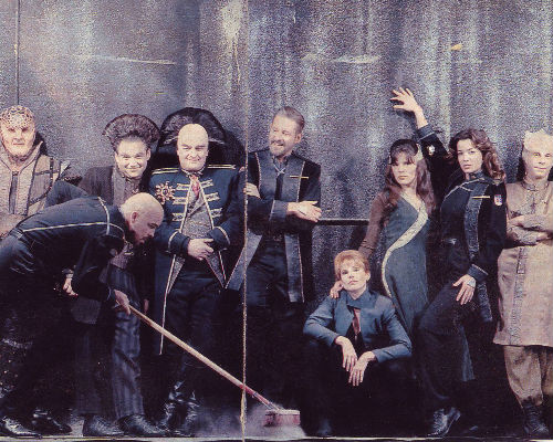Most of the cast of Babylon 5, Michael Straczynski's previous zeitgeist-defining show (image via blastr.com)