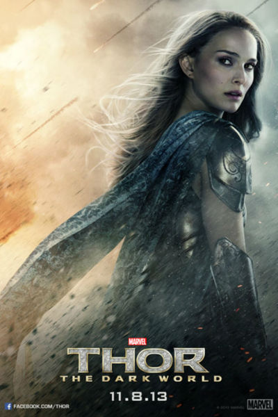 Jane Foster, who runs the risk early on of looking like  a helpless femme fatale tied to the railroad tracks, manages to gain back some feminist cred by saving the day (image via xfbfnetwork.com)