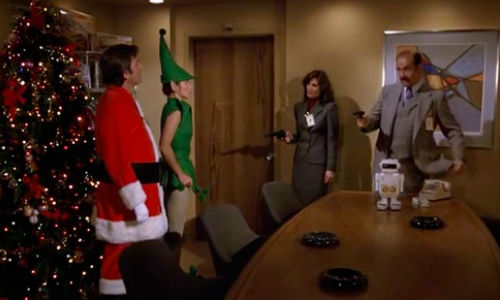 """""""And I would have got away with it too if it wasn't for you Santa and your sexy elf ... I mean Jonathan and Jennifer!"""" (image via jeffco.ca)"""