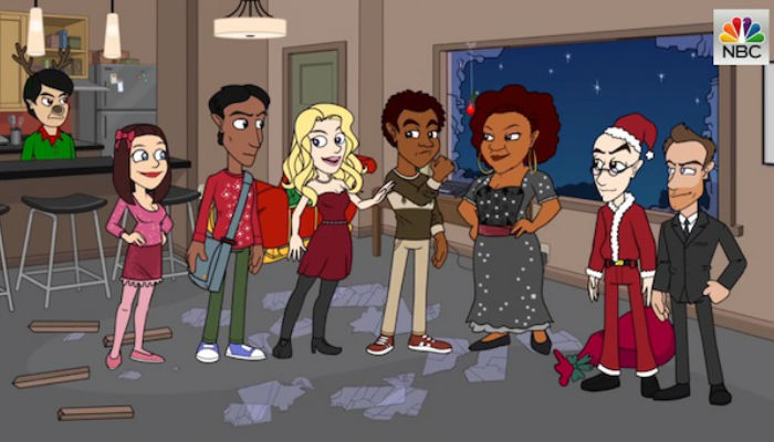 The Greendale gang is as animated as ever! (image via airingnews (c) NBC)