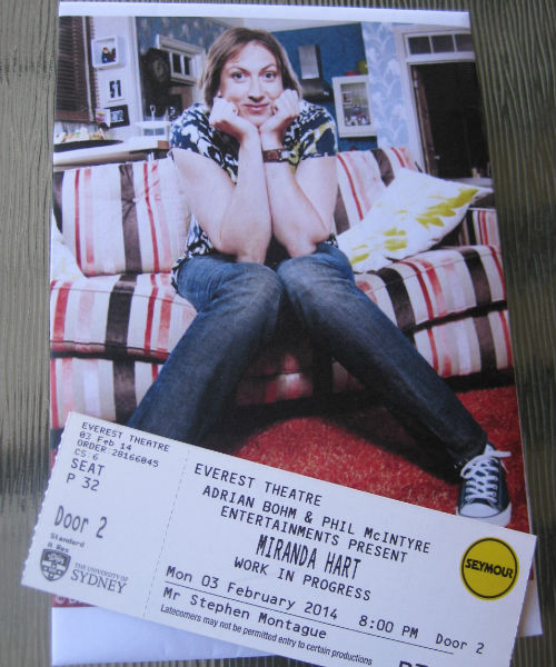 I haz tickets to see Miranda Hart!