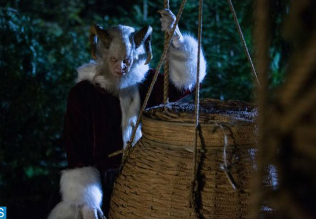 Derek Mears stars as Krampus, about as far as you can get from the jolly man in red (photo by Scott Green/NBC via spoiler.co.uk)