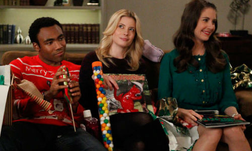 "Jeff agrees to host Christmas at his place, and as you'd expect from a Community celebration, nothing quite goes to plan in ""Intro to Knots"" (season 4) (image via whatculture.com (c) NBC)"