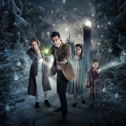 "The Doctor helps a widow and her two children in the depths of World War Two to discover a little magic in the midst of an otherwise sad and mundane existence in ""The Doctor, The Widow and The Wardrobe"" (2011 Christmas special - image via blogs.coventrytelegraph.net (c) BBC)"