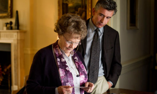 Philomena Lee and Martin Sixsmith form an unexpected if gently adversarial bond in their quest for Lee's long lost son Anthong (image via philomenamovie.com)