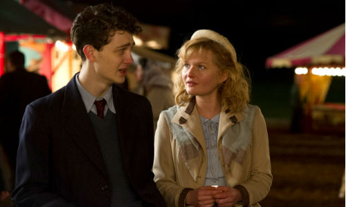 It only takes on night at a fair with a handsome stranger for naive Philomena Lee (played in her youth by Sophie Kennedy Clark) to have the trajectory of her life painfully and irrevocably altered (image via philomenamovie.com)