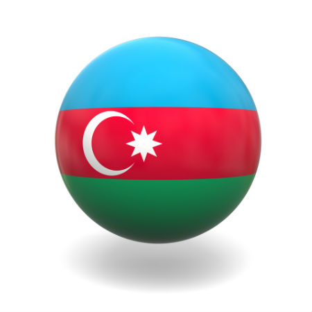 Eurovision Song Contest 2014 Azerbaijan flag