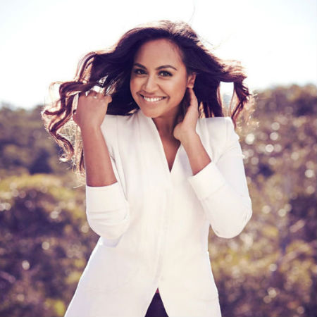 The irrepressibly effervescent Jessica Mauboy (image via her official Facebook page)