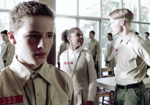 Matt Mason (Maxin Knight) is shown in a deeply unsettling military academy of some kind, the totalitarian overtones impossible to ignore (image via aceshowbiz)