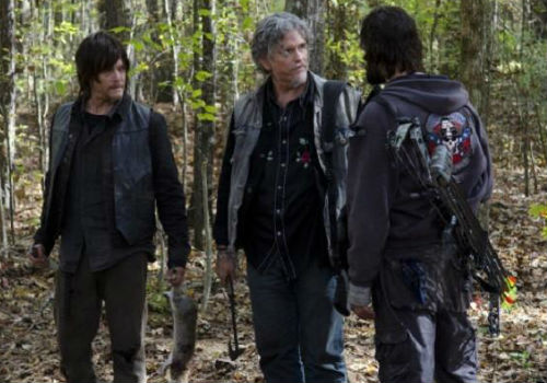 "Daryl finds out to his surprise, followed quickly by scornful disgust, that Joe has hard and fast rules ... one of which includes yelling ""CLAIM!"" every time you see something you want to need (image (c) Gene Page/AMC)"