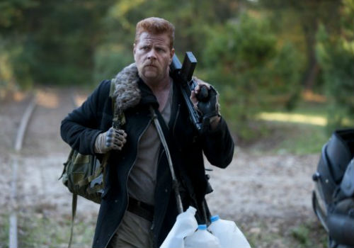 Abraham Ford is a man on a literal mission - to get Dr Eugene Porter to Washington DC to save the world - and doesn't appreciate any diversions from that well defined agenda (image (c) Gene Page/AMC via spoiler.tv)