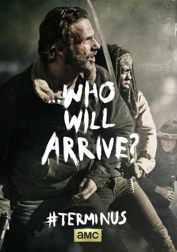 "The poster for season 4 finale ""A"" implies that arriving at Terminus may not be the easiest thing in the world to achieve ... assuming you want to get there at all (image via denofgeeks.com)"