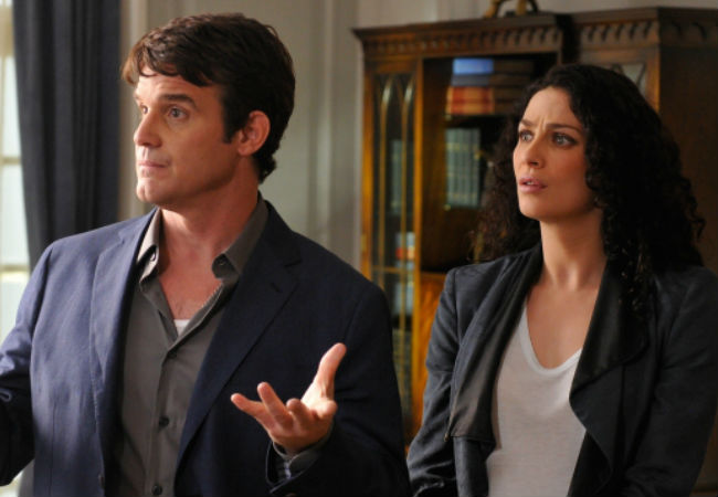 "Pete and Myka are as adorable as ever in ""Secret Services"" (image via Warehouse 13 official site (c) syfy)"