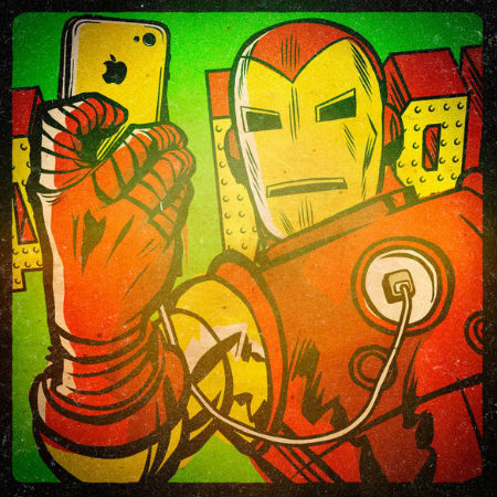 Iron Man takes a selfie (c) Billy Butcher via Mashable)