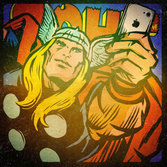 Thor takes a selfie (c) Billy Butcher via Mashable)