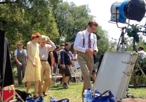 On the set of Woody Allen's new movie Magic in the Moonlight (image via Brits United blog)
