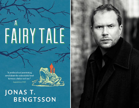An alternate cover of A Fairy Tale and an image of the author Jonas T Bengtsson (image via Arts Nationalpost)