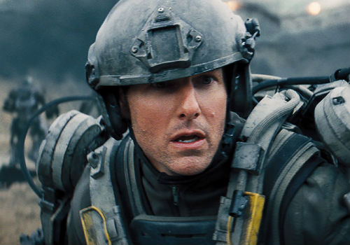 Cage's transformation from cocky PR spin doctor to selfless warrior is an authentically-realised one, taking through every twist and turn of his harrowing trips back and forth through his own destiny (image via Edge of Tomorrow official site)