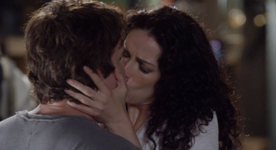 And then they kissed, and while I hadn't particularly wanted this moment, it was, well very Pete and Myka, and that was OK (image via official Warehouse 13 site (c) syfy)