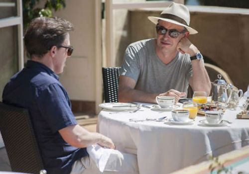 While they may struggle with elements of middle-age angst, including a gentle despair that young women don't see them in quite the same light as they once did, Brydon and Coogan partake in fabulous meals at six beautiful restaurants, compensation enough, though temporary for the odd bout of melancholia (image via SBS)