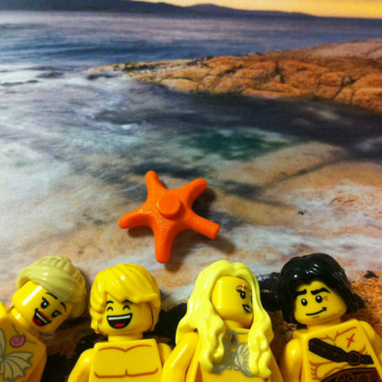 A beach idyll soon to be broken in We Were Liars by E. Lockhart (image and (c) Lego Stories Tumblr blog)