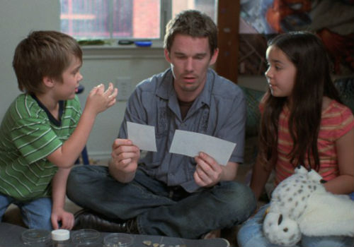 The return of Mason Snr as a presence in the lives of children Mason Jr and Samantha is rocky at first thanks to his inexperience being a dad, but as the kids grow, so do his parenting skills (Image (c) IFC Films)