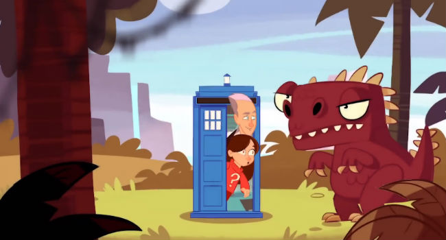 Jump Out Of The Tardis Doctor Who Gets Animated Sparklyprettybriiiight