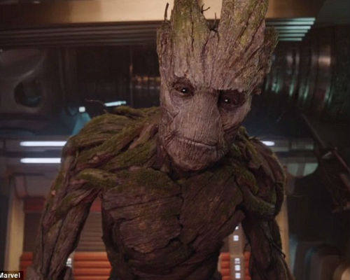 Groot is as sweet as large talking alien trees come really (image via Planet Minecraft (c) Marvel)