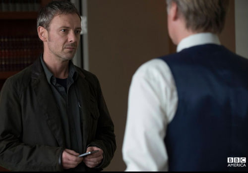 Stonewalled at every turn,  Jack begins to suspect there is something more afoot than simply his wife's disappearance (image via Intruders official site (c) BBC America)