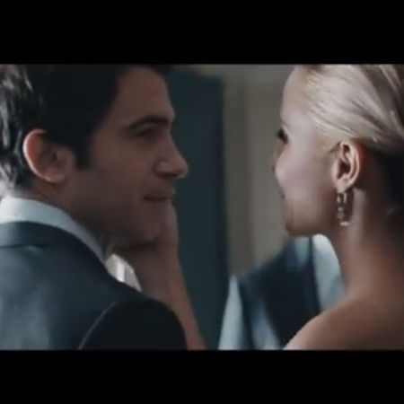 "Chris Messina and Diana Agron star in the music video for Sam Smith's heartwrenchingly-beautiful song ""I'm Not the Only One"" (image via YouTube)"
