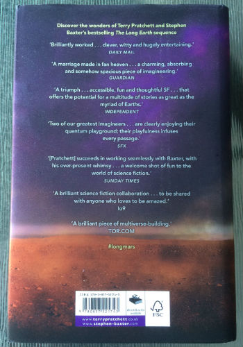 Business Book Cover Review ~ Book review the long mars by terry pratchett and stephen