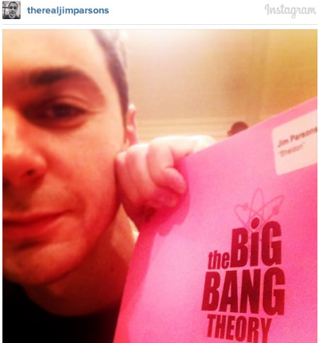 Jim Parsons who plays Sheldon (image via and (c) official Jim Parsons Instagram account)
