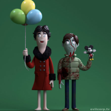 David and Jack from An American Werewolf in London as you've never seen them before (image via and (c) Evil Corp)