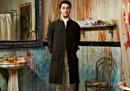 Yes bringing unsuspecting victims back for the all-too-necessary feeding frenzy is important but sweet-natured Viago despairs about his housemates unwillingness to clean up after their bloody selves (image via official What We Do in the Shadows website)