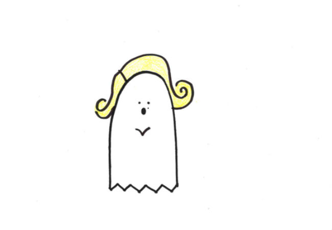 The Ghost of Marilyn Monroe (drawings (c) Alanna Okun and Jessica Probus Buzzfeed staff via Buzzfeed)