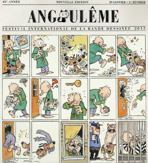 Bill Watterson's poster for next year's Angoulême International Comics Festival (image via Bleeding Cool (c) Bill Watterson/Angoulême International Comics Festival)