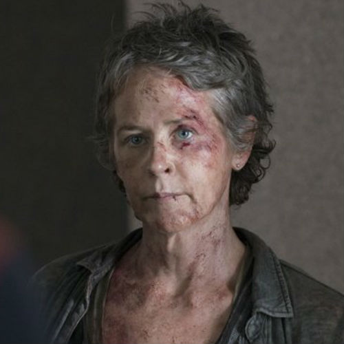 "Carol is looking more a little worse for wear in ""Consumed"" but if she has proven anything of late it's that it takes a lot more than a banged up face to stop this lady in her tracks (image via Spoiler TV (c) AMC)"