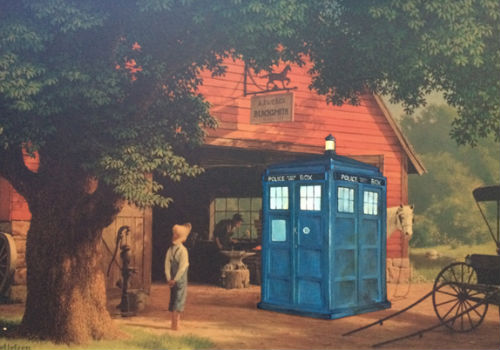 Doctor Who finds himself in what appears as an fairly standard rural setting but don't be fooled - there are likely Daleks in the barn (image via Paste Magazine (c) David Pollot)