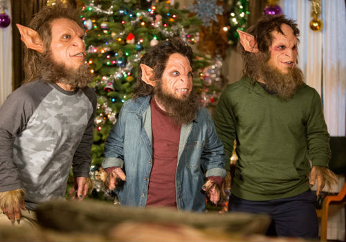 Kallikantzaroi on the rampage and no amount of clever thinking, trapping or determined chasing seems to bring them to heel until someone discovers that fruitcake is their greatest weakness (image via official Grimm site (c) NBC)