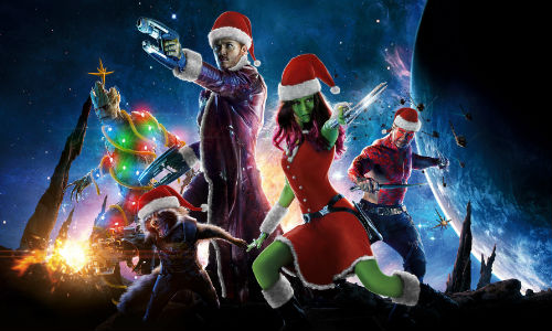 Deck the Galaxy with Guardians looking festive (image by TheLostWinchester via Screenrant)