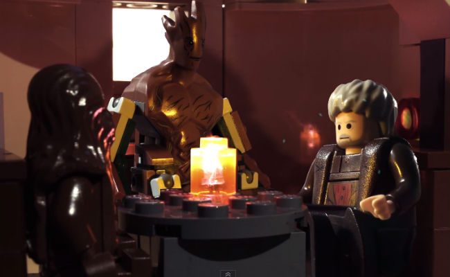 Groot, Hodor and Chewbacca  form a support group of sorts, drowning their (to everyone else) inarticulate sorrows in Mos Eisley Cantina (image via YouTube (c) Brotherhood Workshop)
