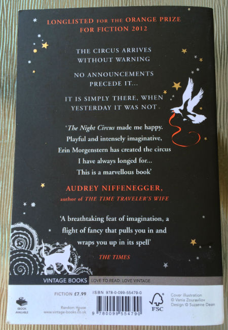 THe Night Circus book review back review